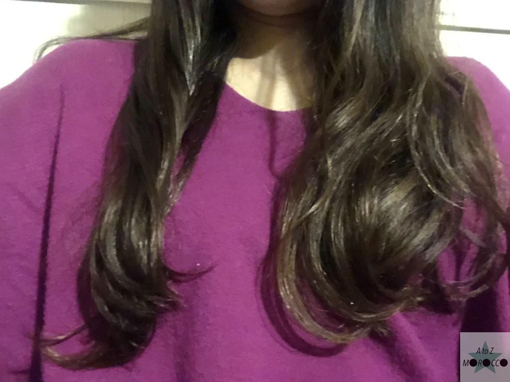 オイル使用前の髪