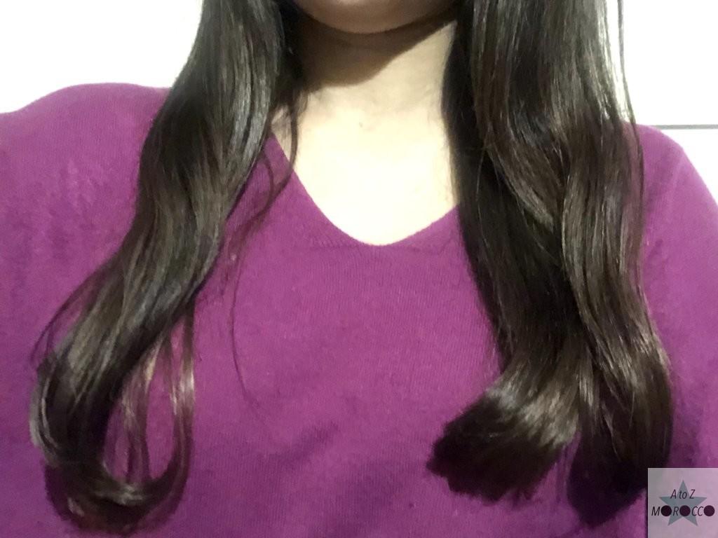 オイル使用後の髪