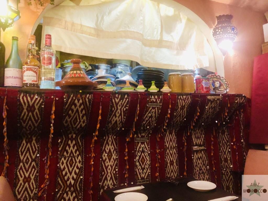 モロッコレストランの店内
