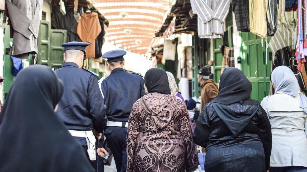 賑わうモロッコの観光地