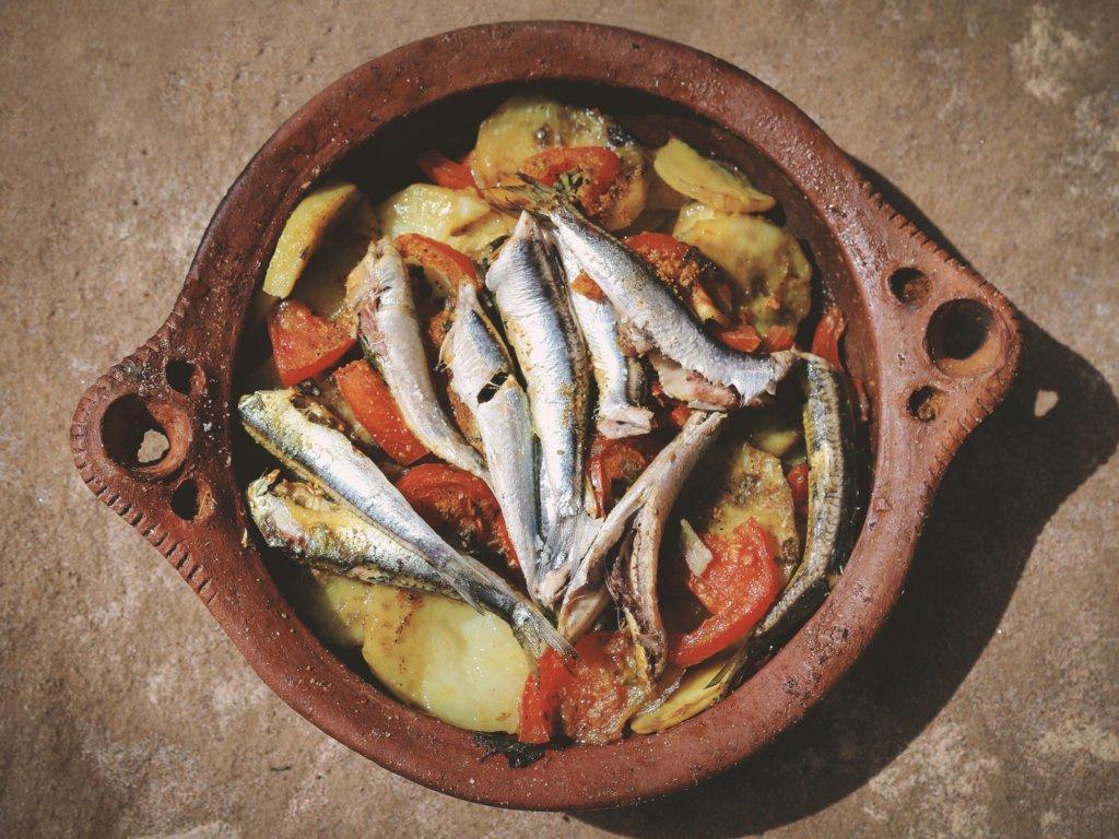 魚のタジン鍋