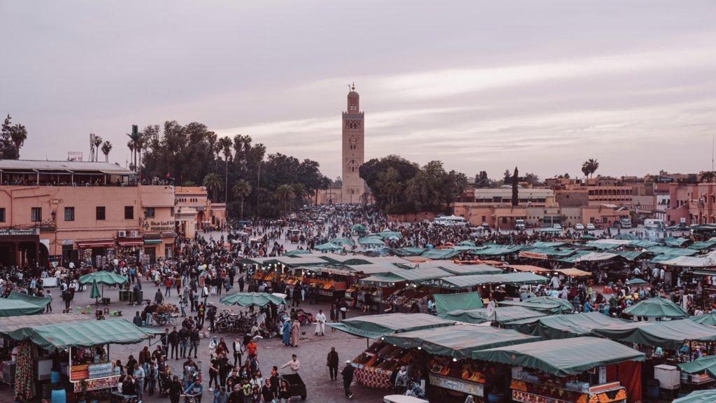 モロッコのマラケシュのメディナ