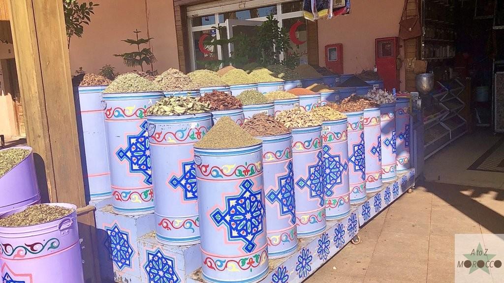 モロッコのスパイス売り場