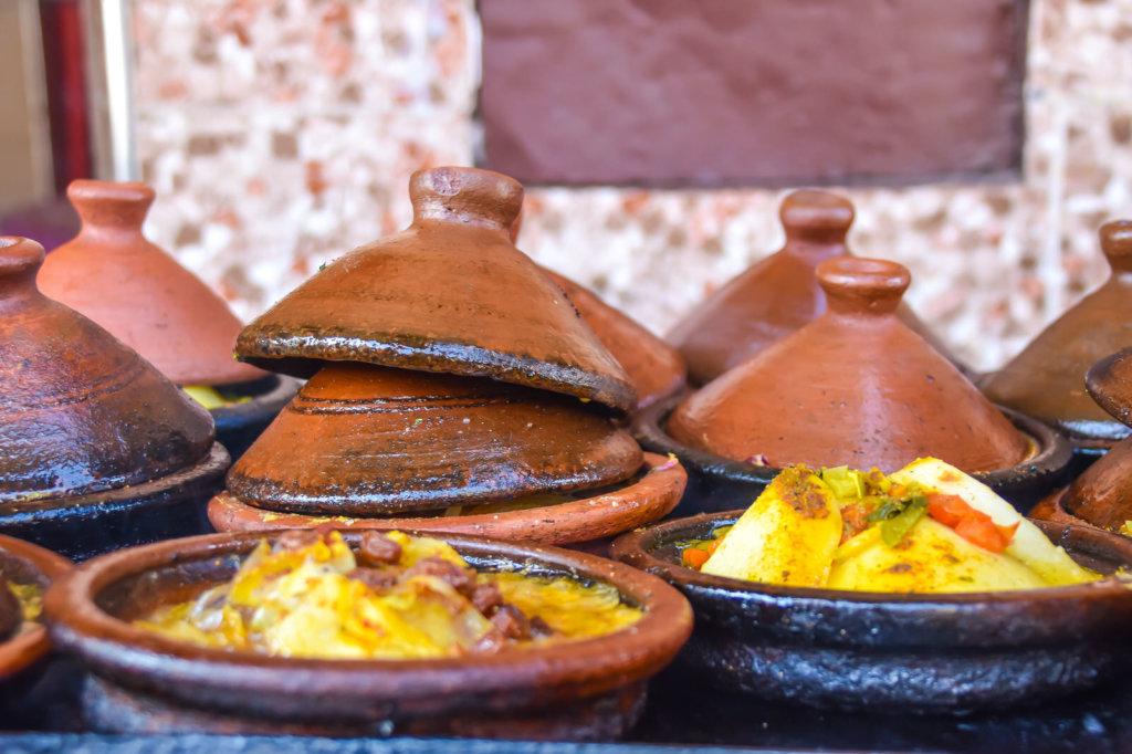 複数のモロッコのタジン鍋