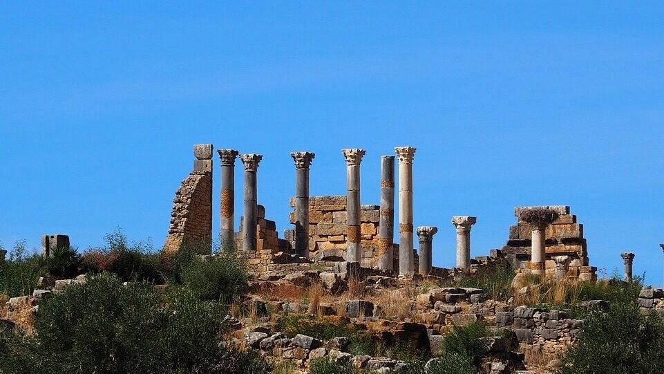 モロッコのヴォルビリス遺跡