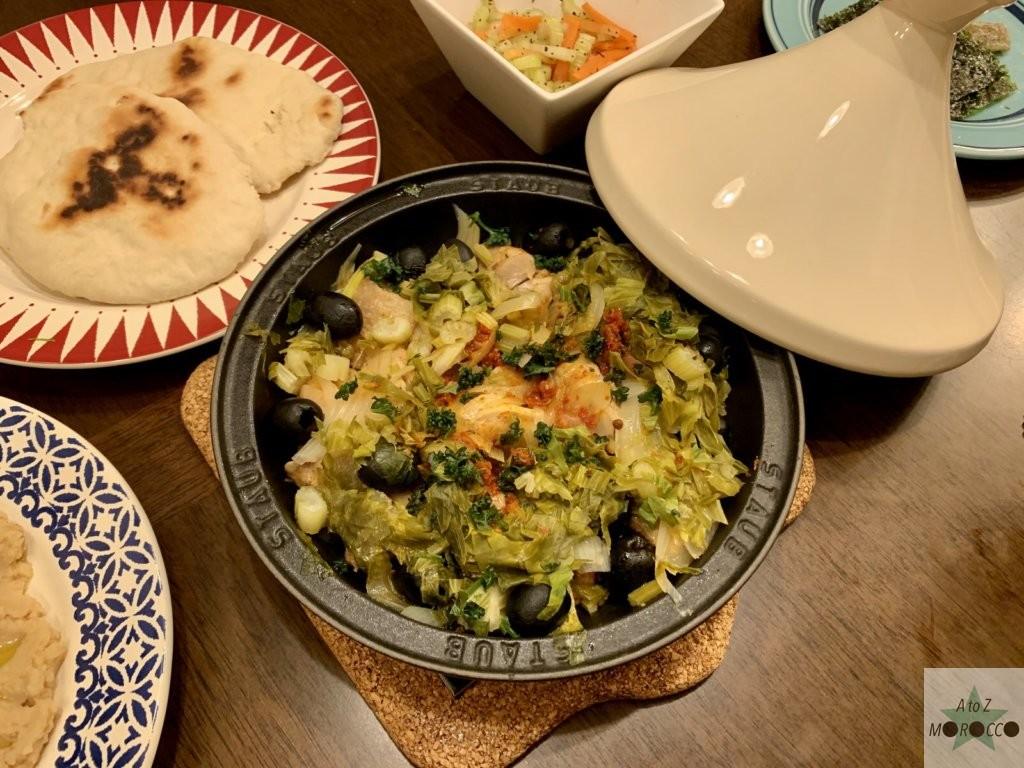 チキンとセロリのタジン鍋