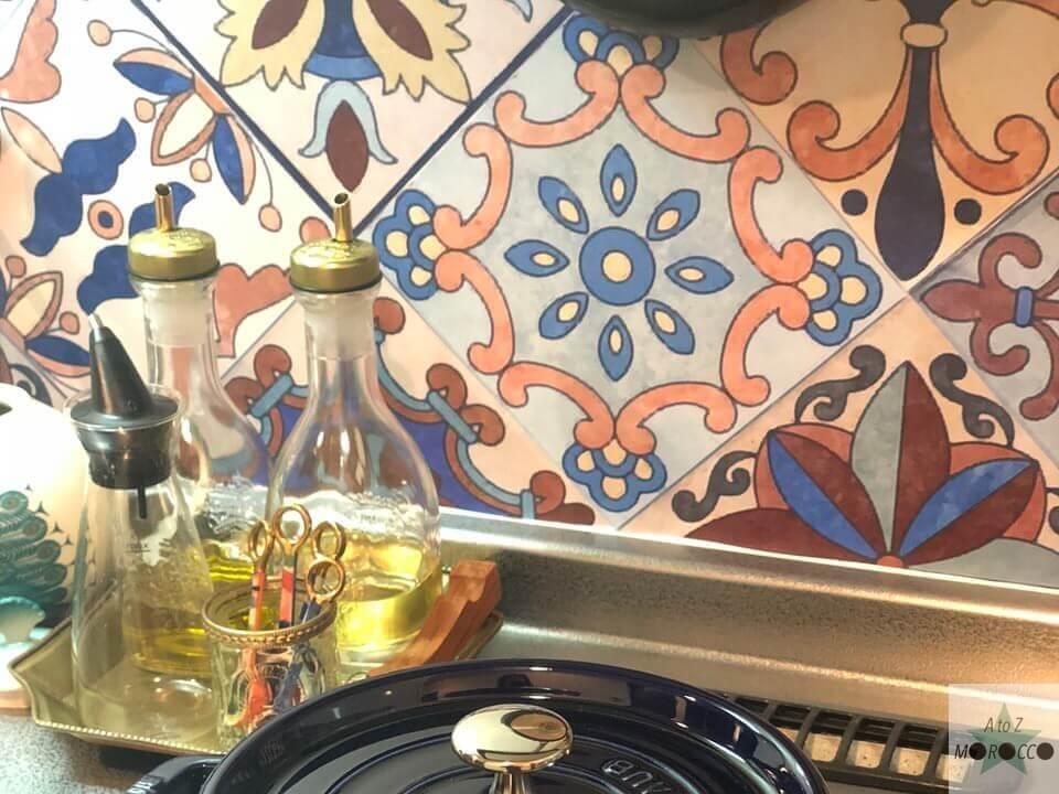 タイルシールを貼ったキッチン