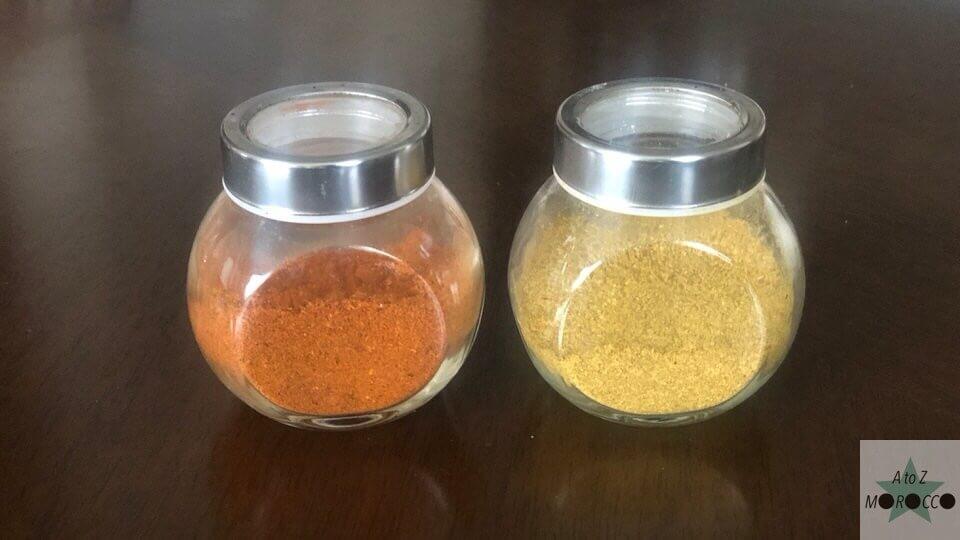 モロッコで購入した2つのタイプのミックススパイス